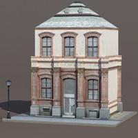 3d model building exterior modeled