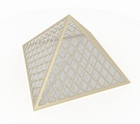 3d small pyramid smooth frames