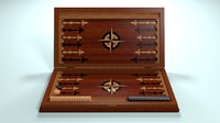 board backgammon 3d model