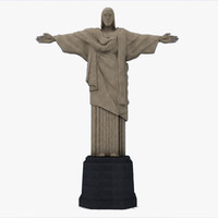 christ brazil mountain 3d model