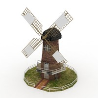 windmill wind milling 3d model