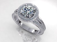 3d great diamond ring