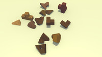 wooden teaser 3d 3ds