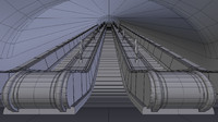 underground escalator 3ds