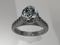 Solitaire Ring Render