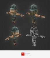 3d character human archer model