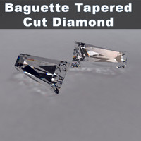 3d baguette taper cut diamond