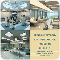 3d model medical rooms