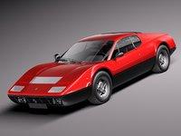 3d model car classic sport 1973