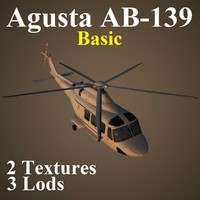 agusta basic helicopter 3d max