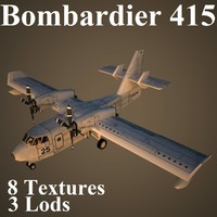 max bombardier 415 low-poly