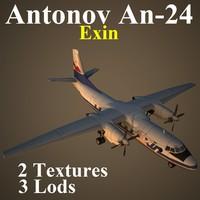 antonov exn 3d model