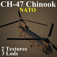 ch-47 chinook nat helicopter 3d max