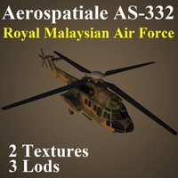 aerospatiale rmf helicopter 3d model