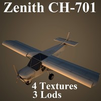 3d zenith ch-701 low-poly model