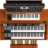 piano synthesizer keyboard 3d model