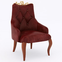 leather dining chair 3d max