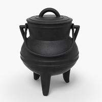 3d iron pot model