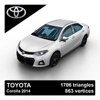 3d model of 2014 toyota corolla sedan