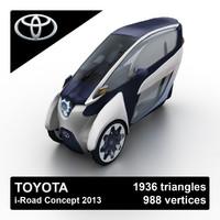 maya 2013 toyota i-road concept
