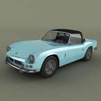 3d model triumph spitfire