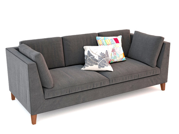 ikea stockholm sofas 3d model. Black Bedroom Furniture Sets. Home Design Ideas
