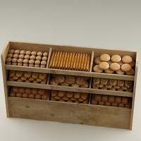 3d bread shelf model