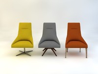 3d model armchair agora