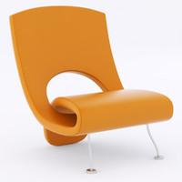 3d modern armchair chair