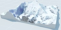 3d everest lanscape model