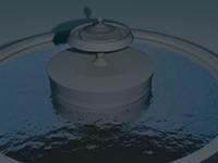 fountain 3d max