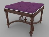 3dsmax padded stool