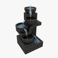 small fountain garden 3d model