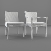 3d model furniture chair armrest