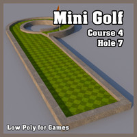 Low Poly Mini Golf Hole C4H7