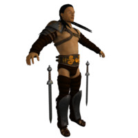 roman gladiator armor tattered 3d model