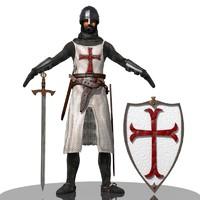 knight templar 3d model