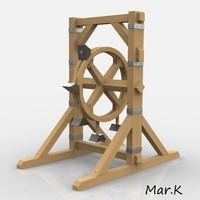 perpetuum mobile hammers 3d model