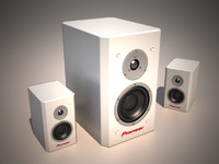 speakers design 3d model