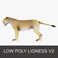 model of lioness lion