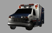 3d crashed ambulance model