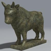 sculpture bull 3d model