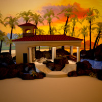 3d max cabana pool