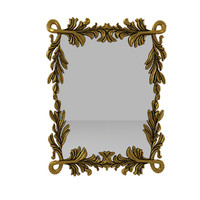 3d 3ds carved wall mirror
