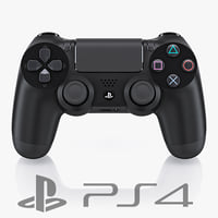 3d model sony ps4 dualshock controller