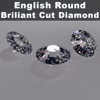 3d model english cut brillinat diamond materials