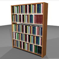 Bookshelf With Books: C4D Format