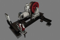 elevator geared traction machine 3d model