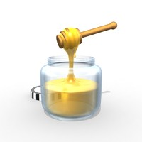 honey jar 3d model