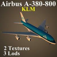 3d airbus klm model
